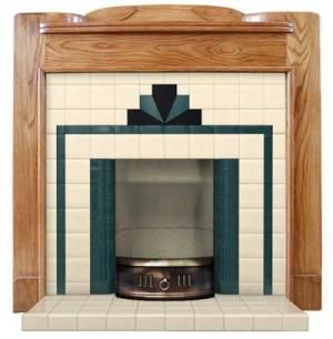 Windermere tiled fireplace insert