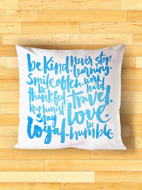 Cushion - Simple rules to live by