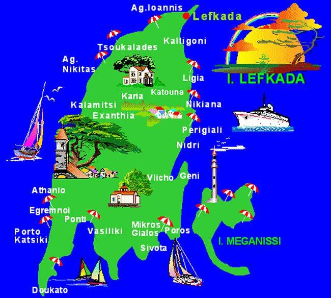 lefkada map - Google Search
