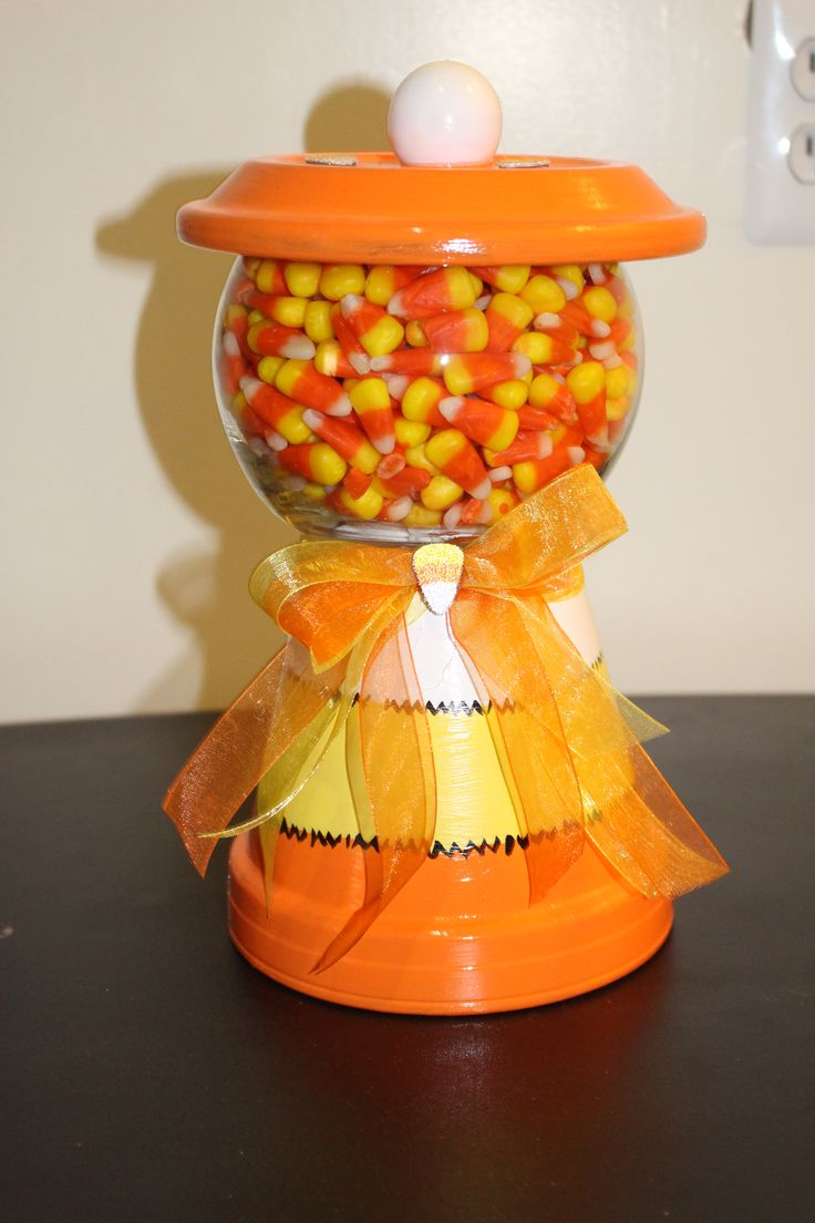 Clay pot candy jar.