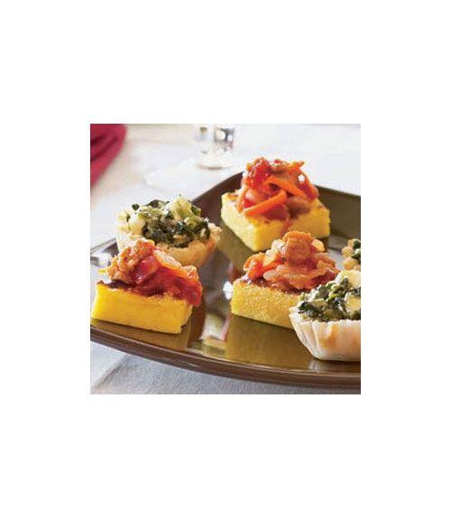 Another great option for party appetizers, these bites are heartier than most starters thanks to their meaty topping. Get the recipe.  - WomansDay.com