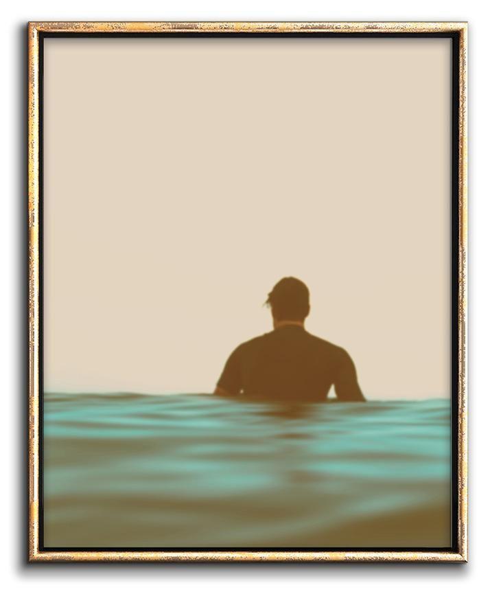 Modern Coastal Art Surfer Decor Downloadable Print – Chaos & Wonder Design