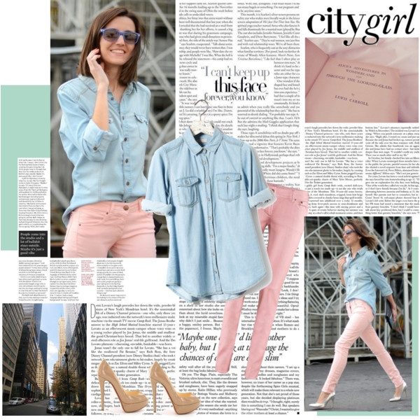 Guess Iu0027ll Have To Get A Denim Shirt Go With My Pink Jeans
