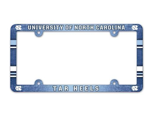North Carolina Tar Heels License Plate Frame - Full Color