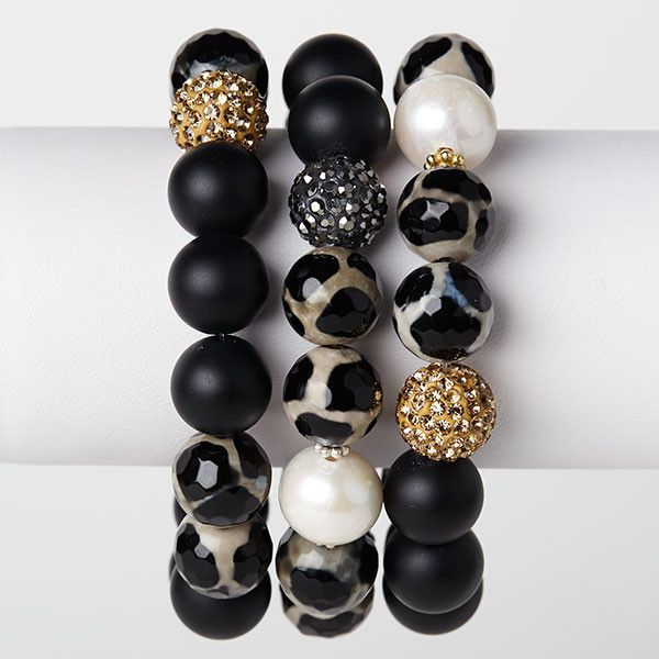 12-13mm A+ Freshwater pearl 12mm matte onyx 12mm leopard agate gold and gun metal polymer clay pave balls gold plated and sterling silver spacers