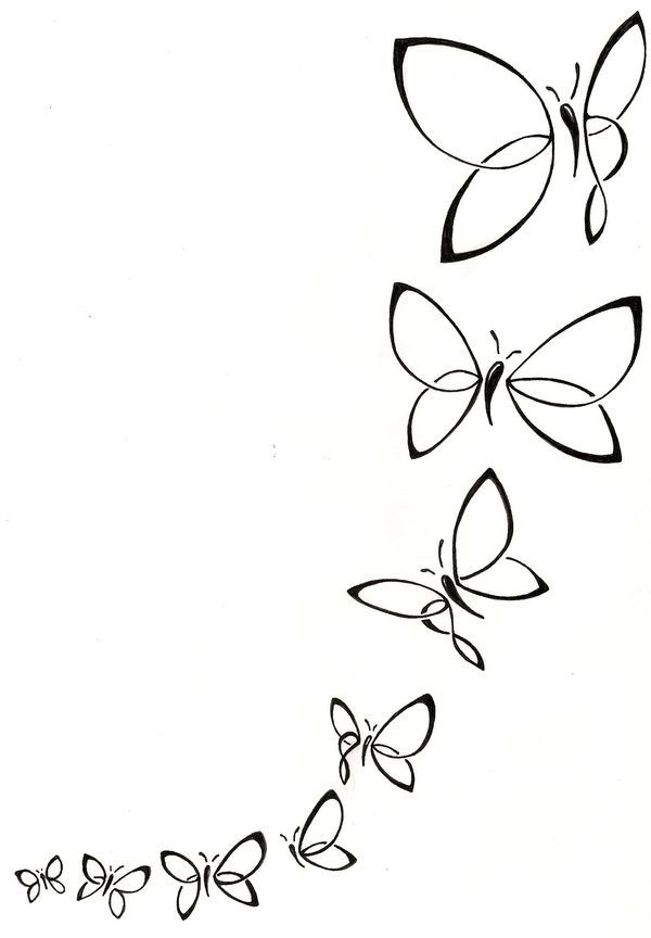 Butterfly flock tattoo