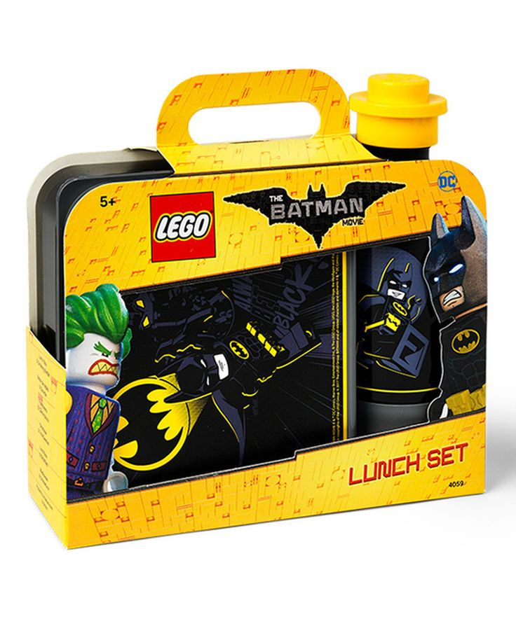 This LEGO Batman Lunch Box & 14-Oz. Water Bottle by LEGO® is perfect! #zulilyfinds