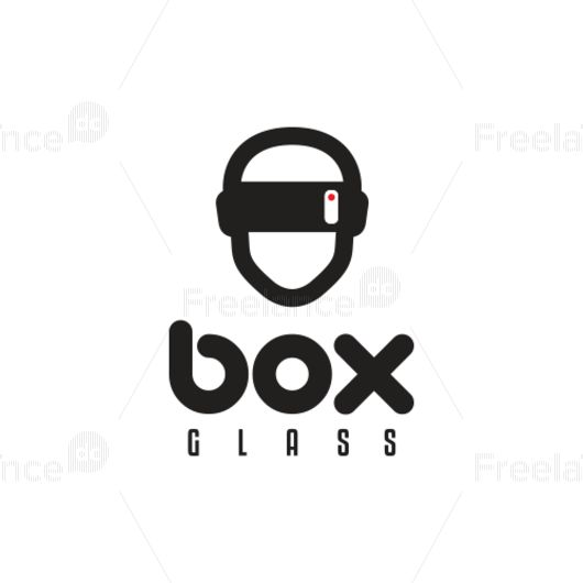 Logo for the virtual reality headset Vrcardboard. Buy ready-made logos and vector images.
