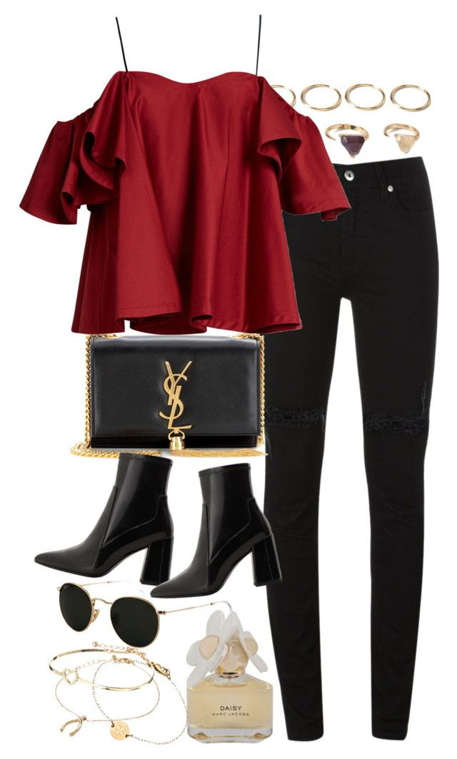 """Untitled #9648"" by nikka-phillips ❤ liked on Polyvore featuring Forever 21, McQ by Alexander McQueen, Yves Saint Laurent, Anna October, MANGO, Ray-Ban, Marc by Marc Jacobs, Miriam Merenfeld and ASOS"