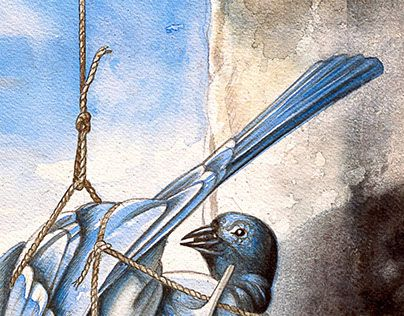 """Check out new work on my @Behance portfolio: """"La fonte des oiseaux bleus"""" http://be.net/gallery/45314027/La-fonte-des-oiseaux-bleus"""