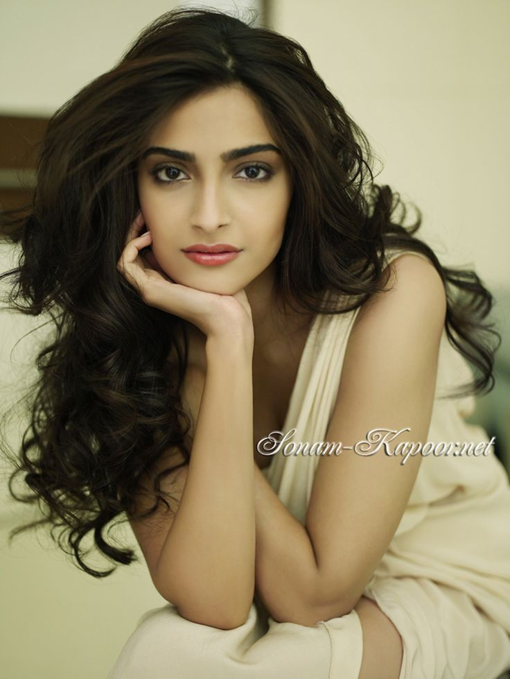 Sonam Kapoor, long wavy hair, indian hair and makeup beauty