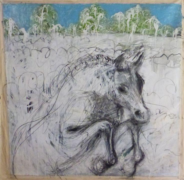 """""""La Primavera"""" by Melora Walters $5,100 64 x 64 inches oil on canvas"""