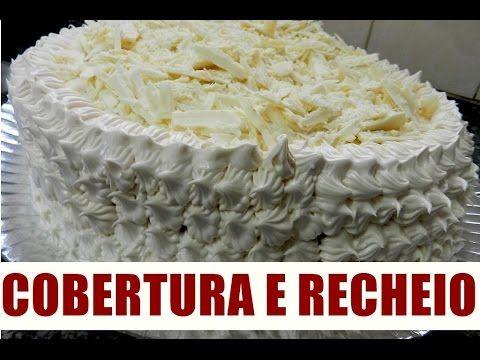 RECEITA DE GLACÊ CREMOSO - COBERTURA PARA BOLO - GLÂCE PARA BOLO E CUPCAKE - YouTube