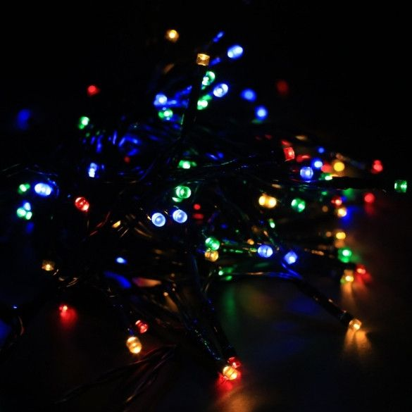 Multi-Color Colorful Linkable Led String Lights For Holiday Christmas Party Decoration (10M, 100LED) - фото 5