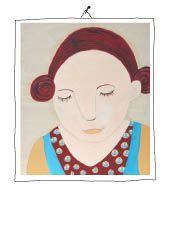 melancholic girl oil on wood