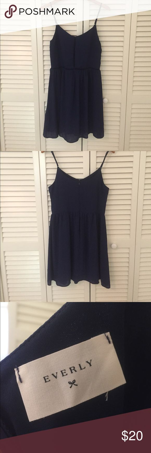 Francesca's Sundress with Cutouts Small see through ladder detail on waist line and up the middle that's see through as shown in the photos. Adjustable straps. Barely worn. Will consider reasonable offers 😊 Francesca's Collections Dresses Mini