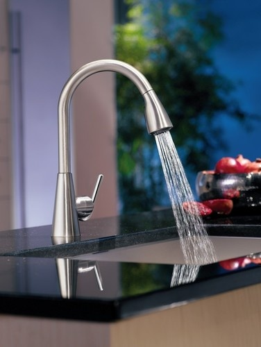 Ascent Matte Black One Handle High Arc Pullout Kitchen Faucet