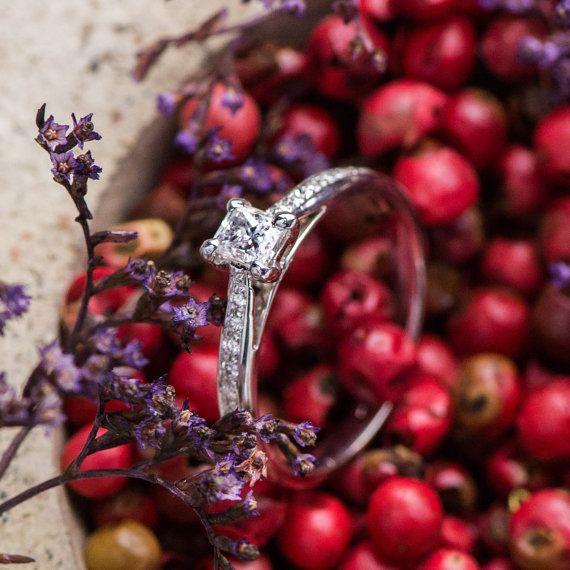 0.30 Ct Princess Cut Natural White Diamonds by ZEHAVAJEWELRY