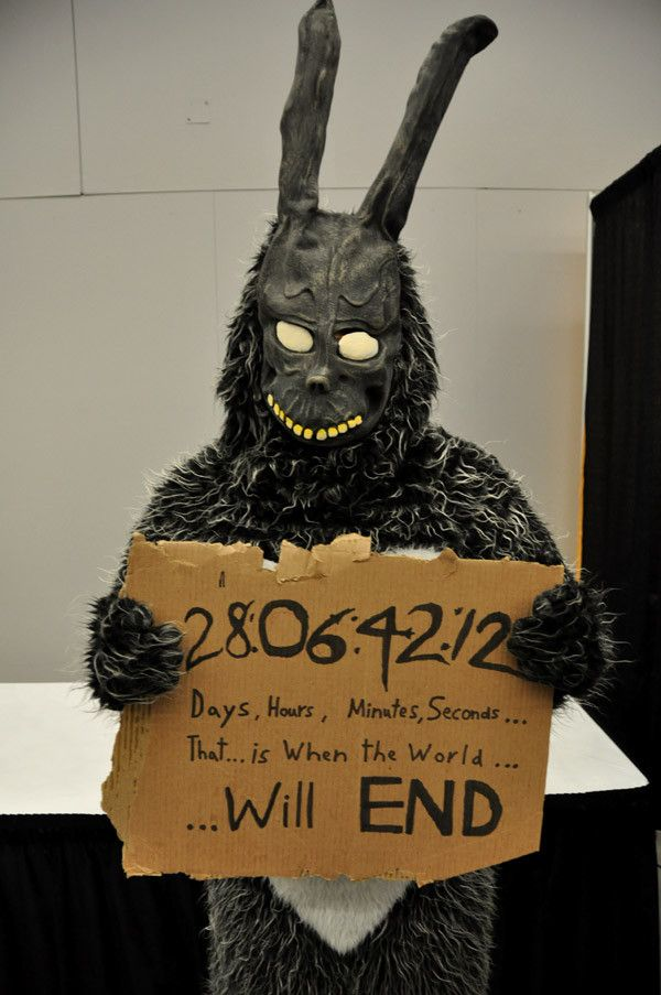Frank the bunny - I'd be terrified if I saw him walking around the con floor!