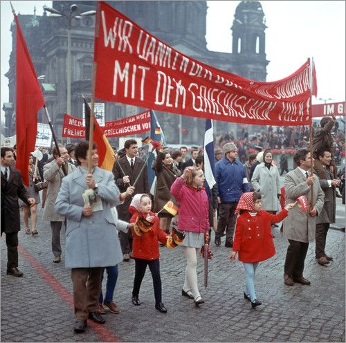 Poster DDR - Mai-Demonstration 1970