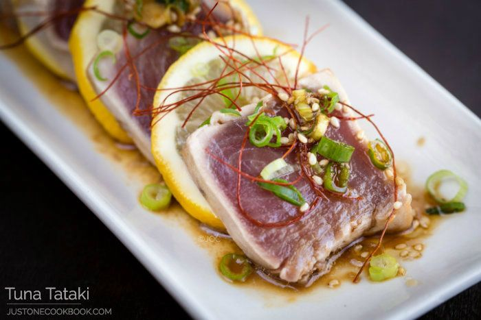 Tuna Tataki | Easy Japanese Recipes at JustOneCookbook.com My friend Esther gave me three pieces to taste and it was out of this world!