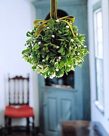 Don't forget to hang the mistletoe! A little DIY project from @Martha Stewart Living