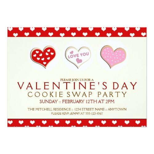 Best ValentineS Cookie Exchange Images On   Cookies