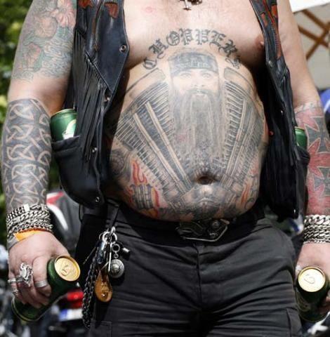 Hells angel biker tattoo pinterest conure evil eye for Hells angels tattoos pics