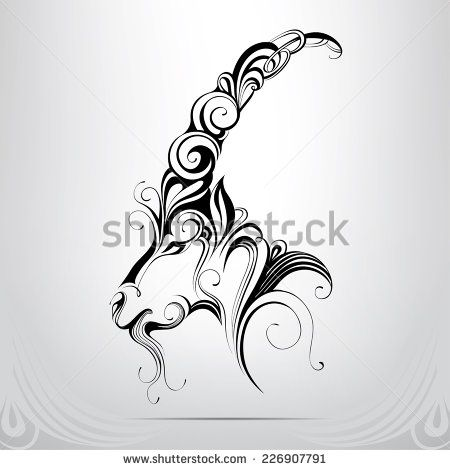 Stock Images similar to ID 160640486 - tribal art tattoo wing shape