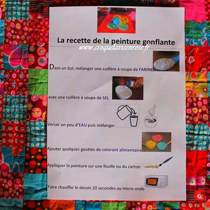 Peinture gonflante microondes