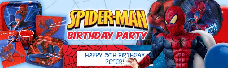 Spiderman Party Supplies and Birthday Party Decorations from Birthday in a Box