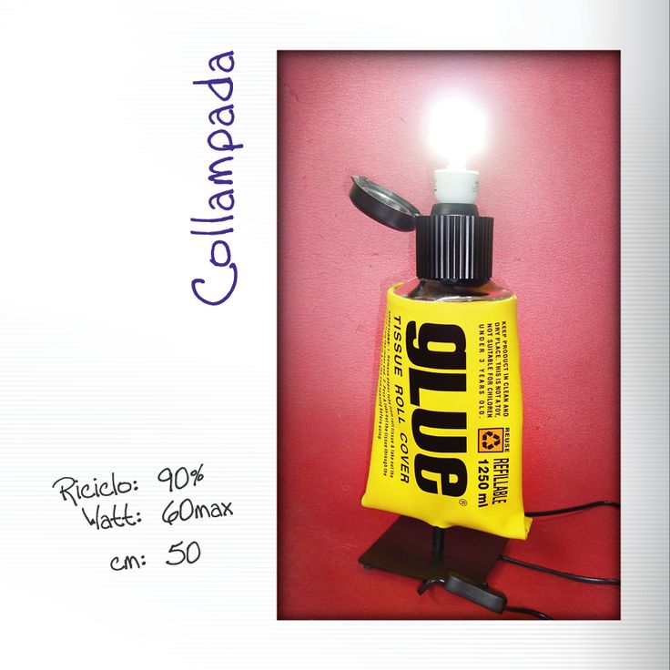 Lampada da tavolo Glue #glue #colla #lampada