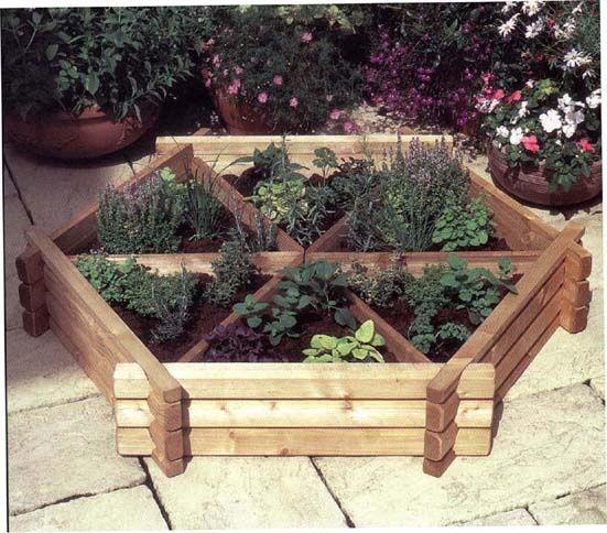 Cool Raised Herb Bed Garden