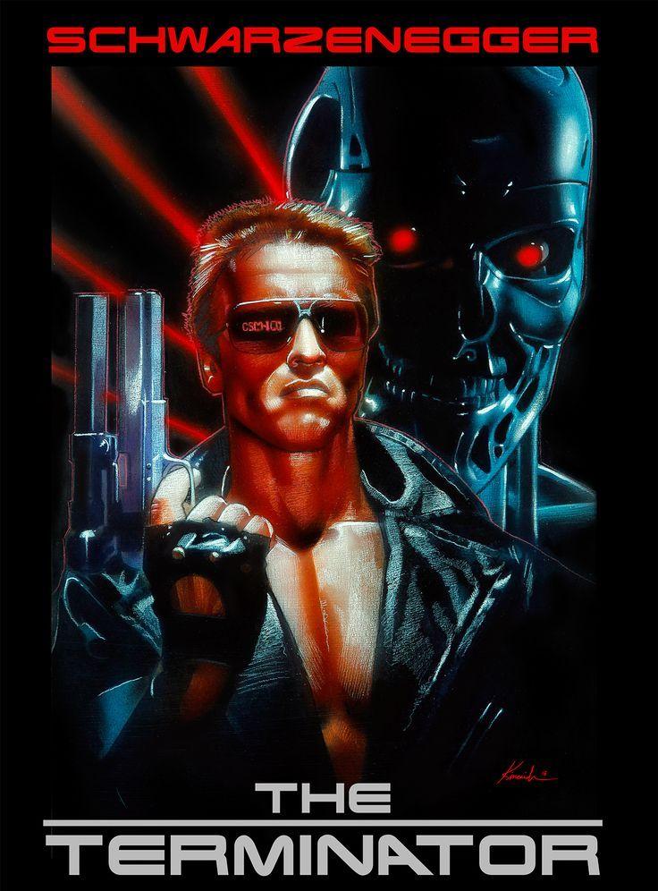 The Terminator Arnold Schwarzenegger Movie Art Silk Poster 12x18 24x36