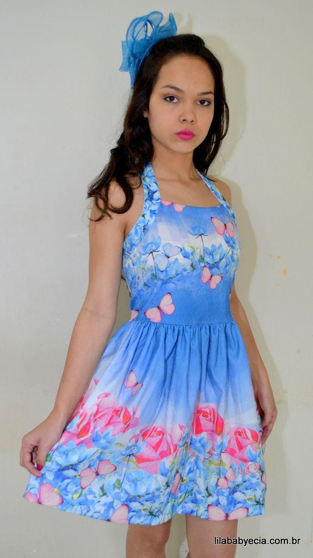 Vestido Miss Cake Vestido Infanto Juvenil Miss Cakecom Estampa EXCLUSIVA  Vestido ideal para festas ou para uso casual - sua Princesa vai: esbanjar charme...