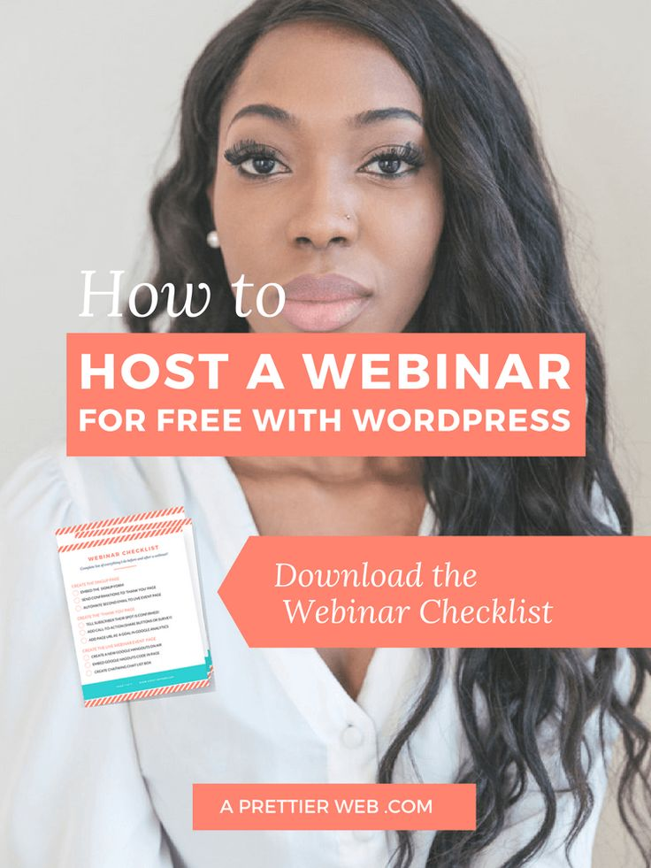 See step-by-step instructions and VIDEO on how to host your own live webinar using your existing WordPress website. via @aprettierweb