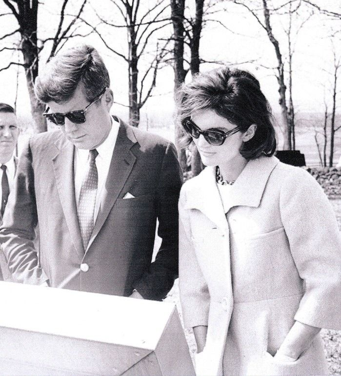 This photo was taken during the Kennedys visit to Gettysburg