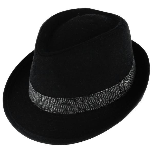 76d302bfe Ascentix Men's Wool Blend All Season Fedora Hat with Herringbone ...