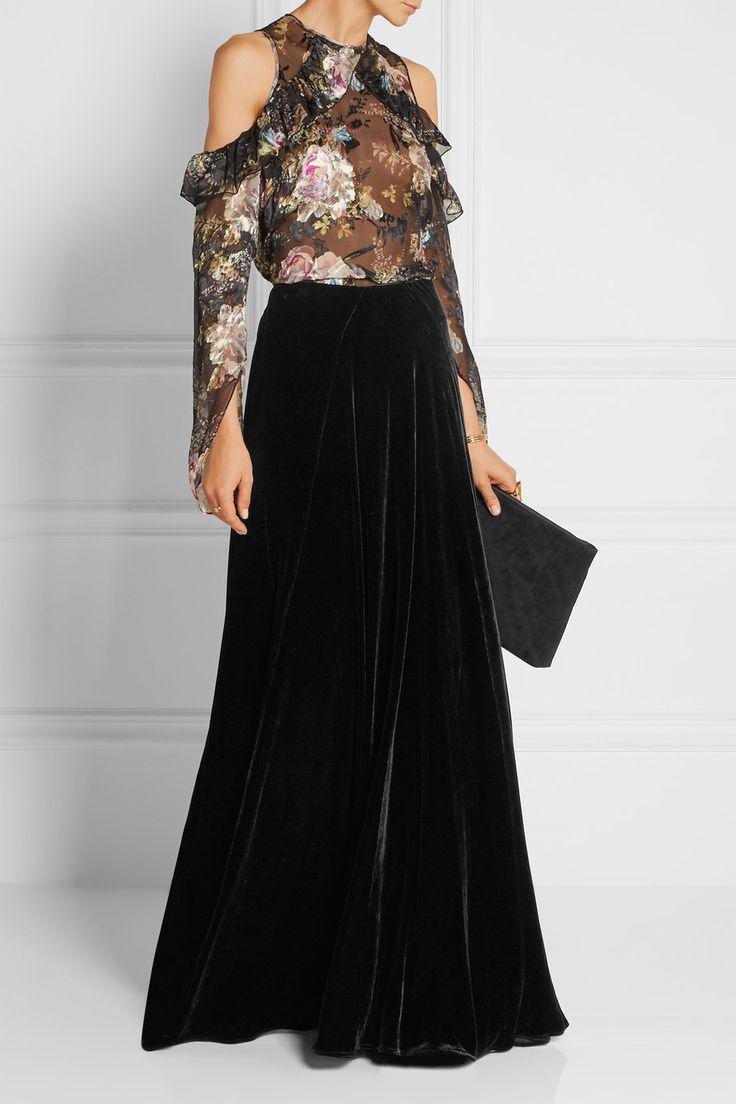 Etro | Velvet maxi skirt | NET-A-PORTER.COM
