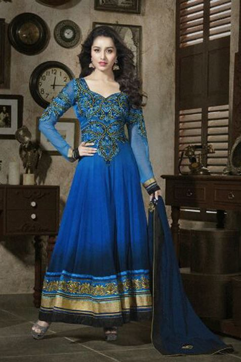 Stylish Shraddha Kapoor Long Anarkali Suit