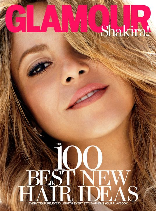#Shakira in Glamour, February 2014. Earrings, Jennifer Fisher.