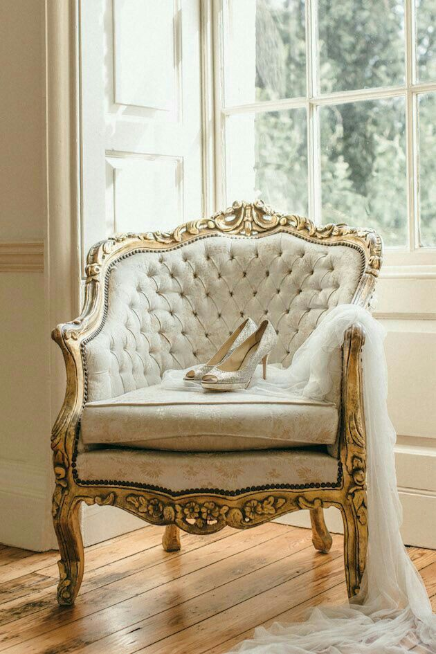 Gold Nude Shoes For Closet Shabby Chic Furniture Home Decor Vintage Chairs