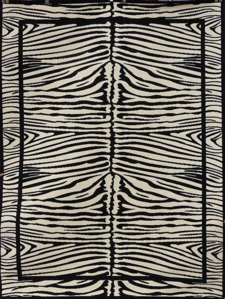 Discount Rugs | Cheap Area Rug | Black and White Rugs 5x8 |Zebra Rug 8x10