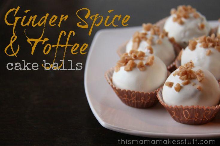 No Bake Ginger Spice & Toffee Cake Balls