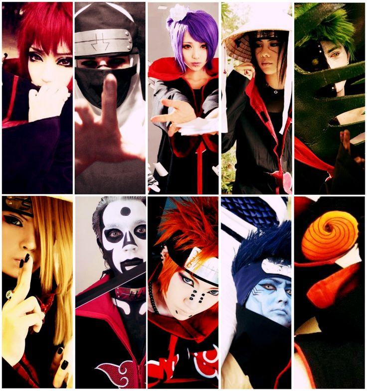 Deidara, Sasori, Hidan, Tobi, Uchiha Itachi, Konan, Kakuzu, Zetsu, Hoshigaki Kisame, Pein [Akatsuki-Naruto]