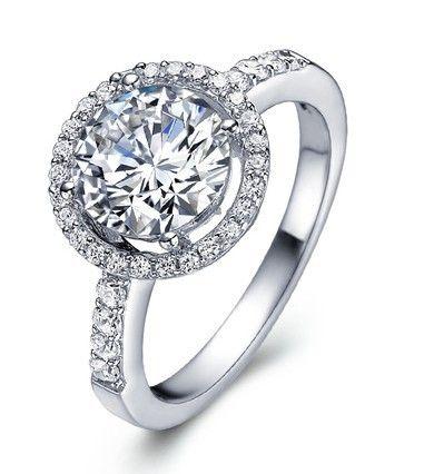 Серебро 925 тур полу-сталь горе кольца обручальные обручальные кольца 2 СТ 18 К позолоченные женские украшения любовь серебро