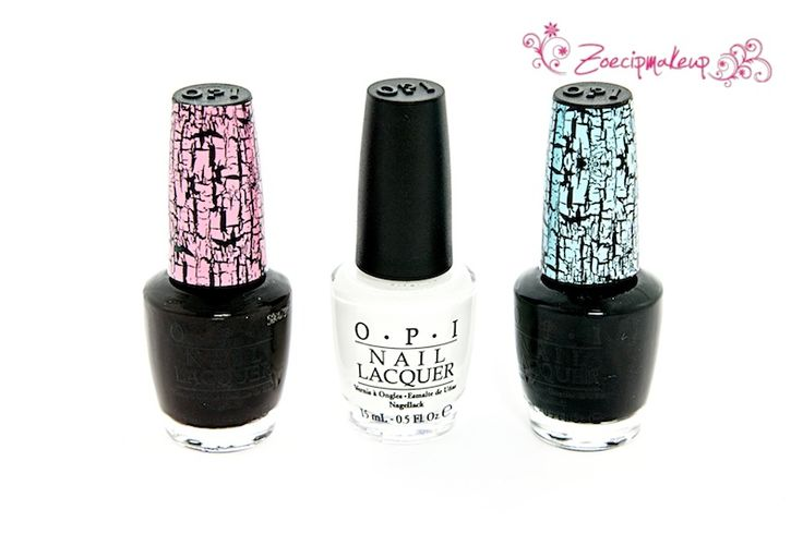 OPI Alpine Snow e Shatter Paints Pink e Blue