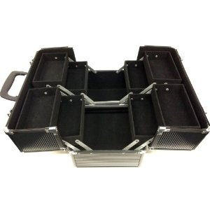 Aluminium Cosmetic Case in black!