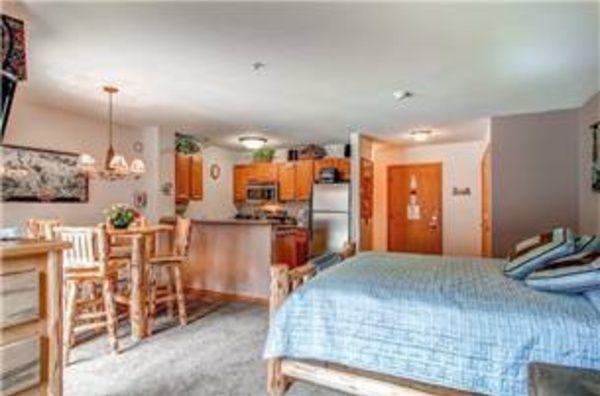 Studio Condominium in River Mountain Lodge, Breckenridge, Colorado.