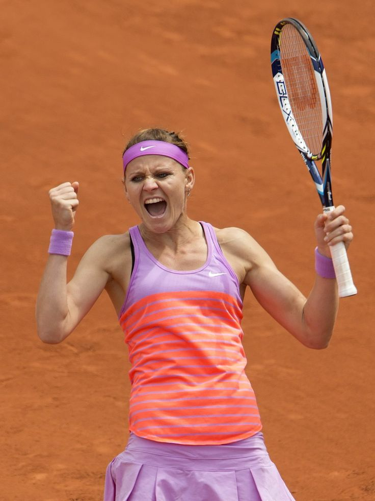Lucie Safarova (CZE) celebrates after recording match point in her match against Sabine Lisicki (GER).  Susan Mullane, USA TODAY Sports